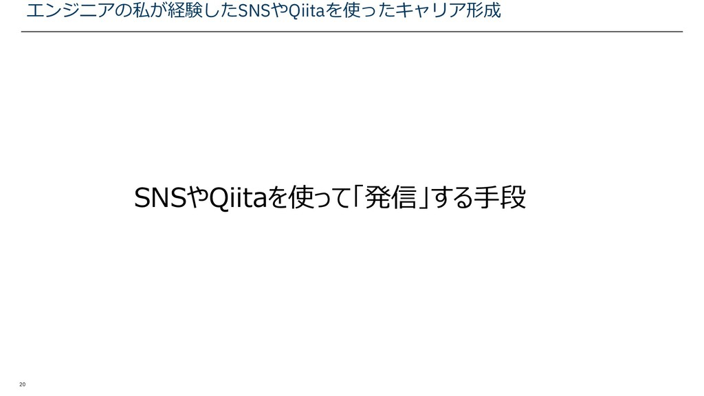 20 SNSやQiitaを使って「発信」する手段 エンジニアの私が経験したSNSやQiitaを...