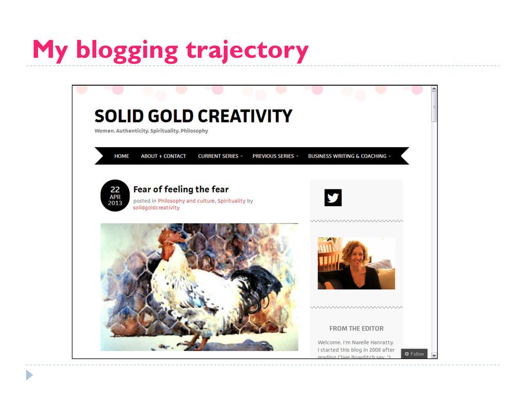 My blogging trajectory