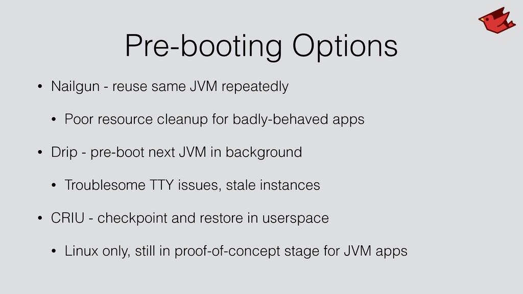 Pre-booting Options • Nailgun - reuse same JVM ...