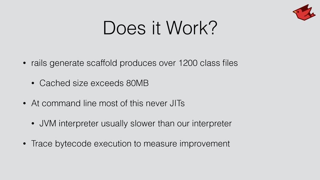 Does it Work? • rails generate scaffold produce...