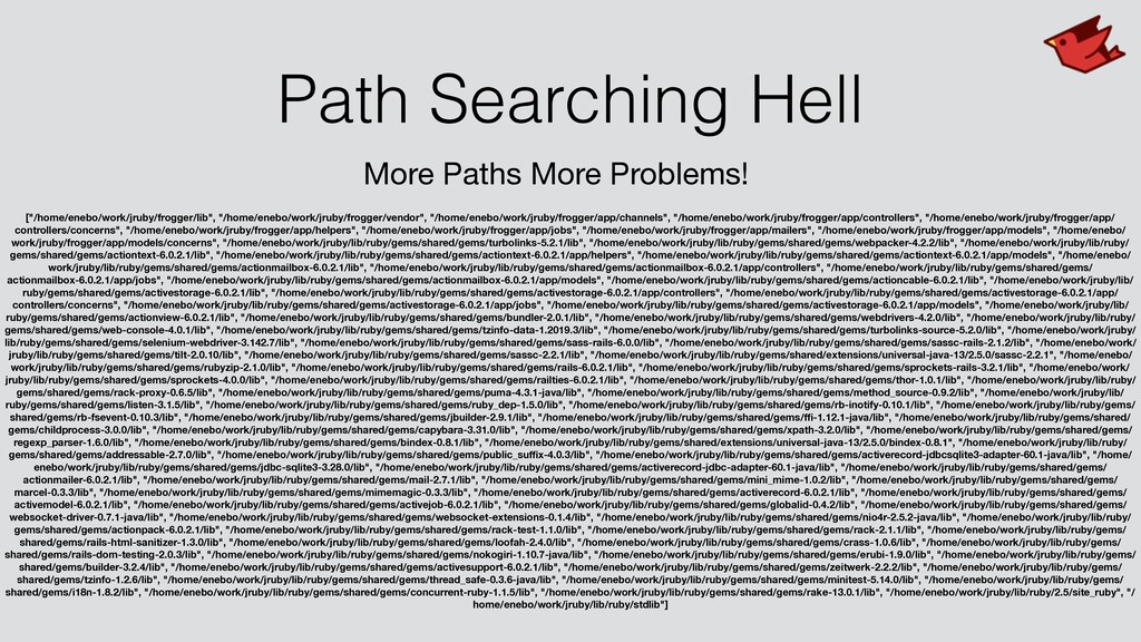 Path Searching Hell More Paths More Problems! [...