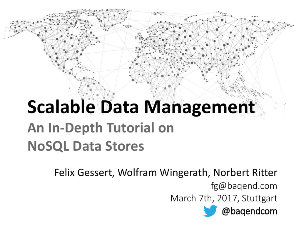 Scalable Data Management An In-Depth Tutorial o...