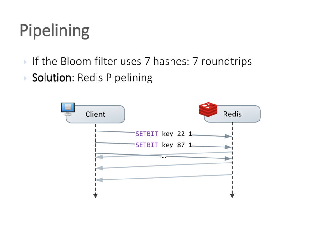  If the Bloom filter uses 7 hashes: 7 roundtri...