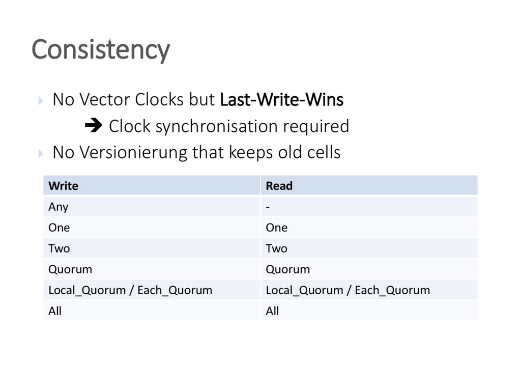  No Vector Clocks but Last-Write-Wins  Clock ...