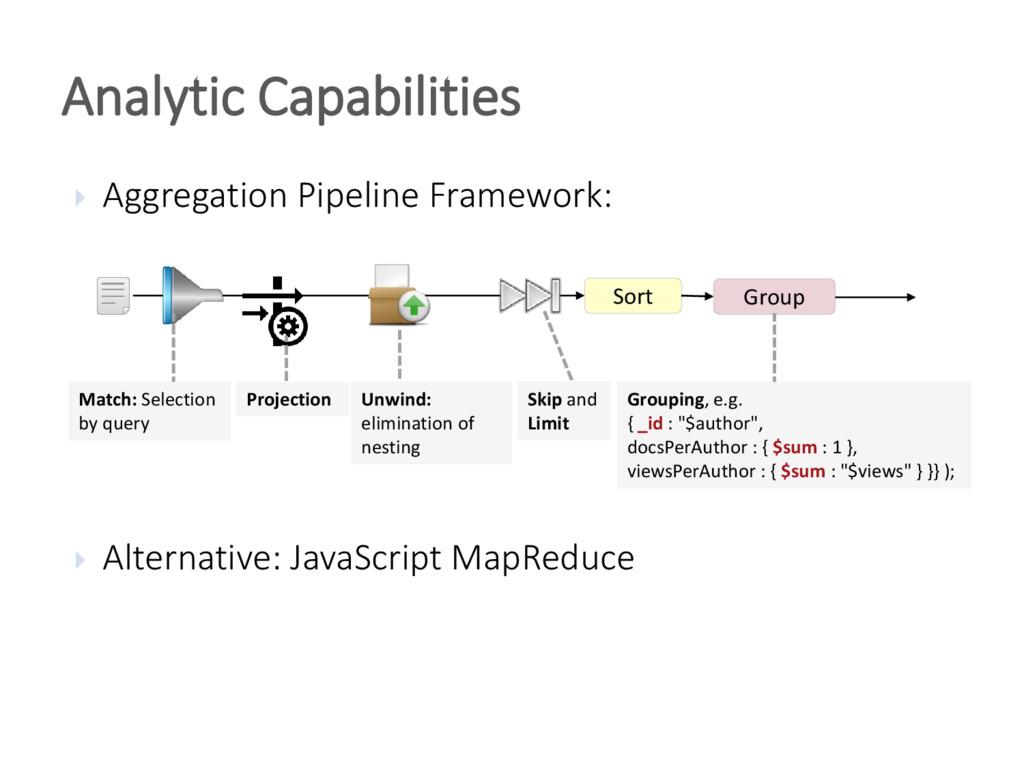  Aggregation Pipeline Framework:  Alternative...