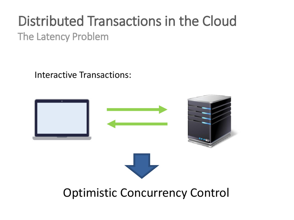 Distributed Transactions in the Cloud The Laten...
