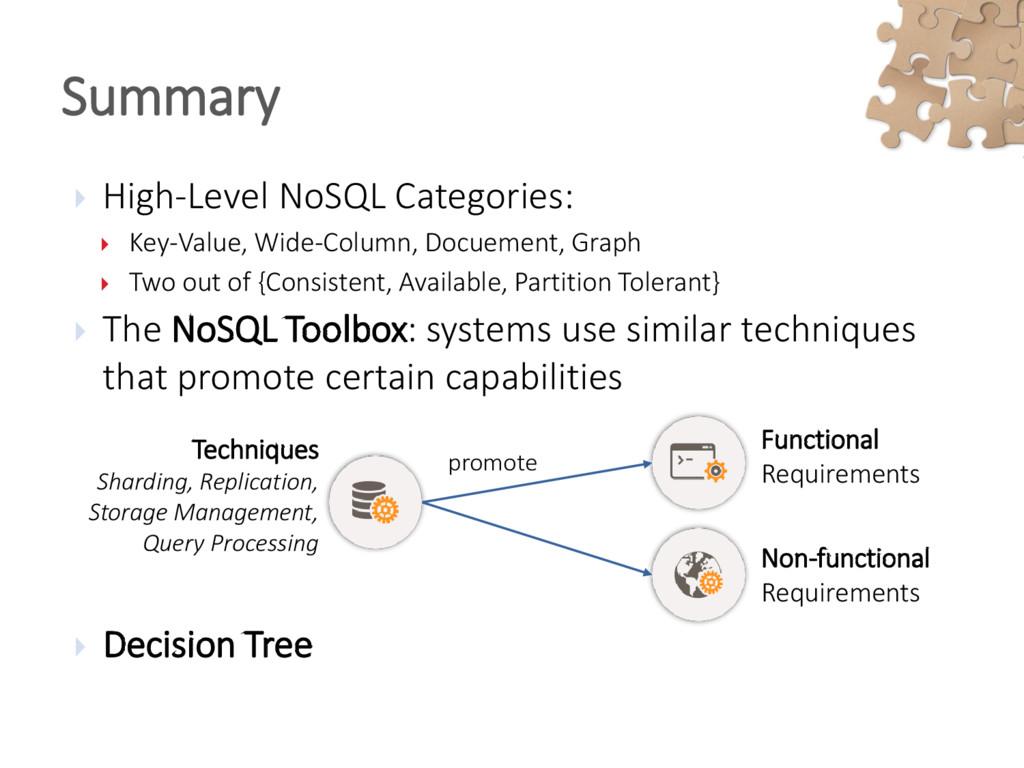  High-Level NoSQL Categories:  Key-Value, Wid...