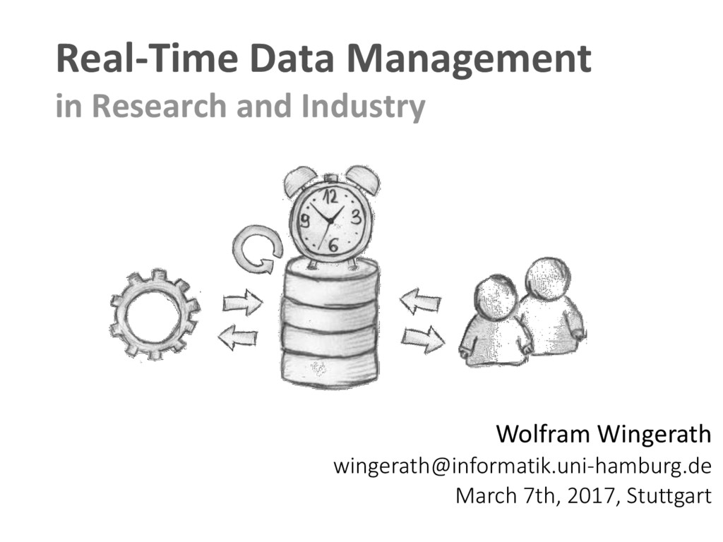 Real-Time Data Management in Research and Indus...