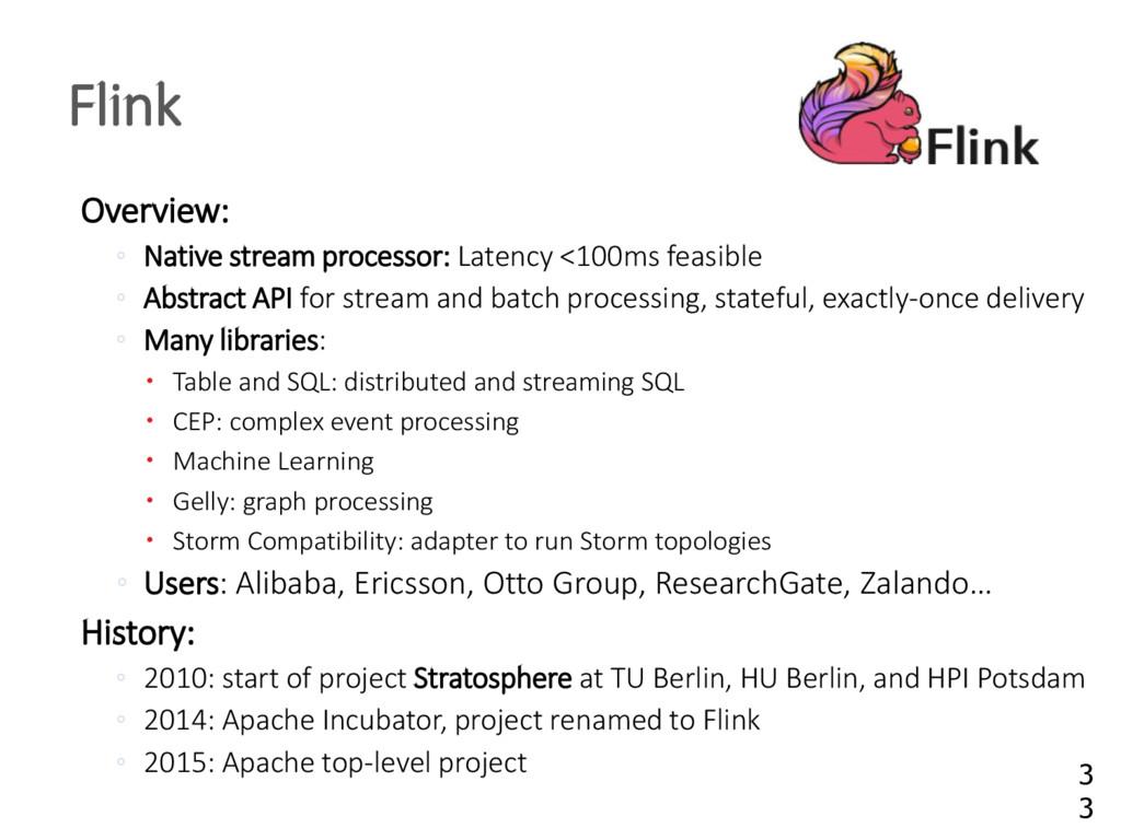 Overview: ◦ Native stream processor: Latency <1...