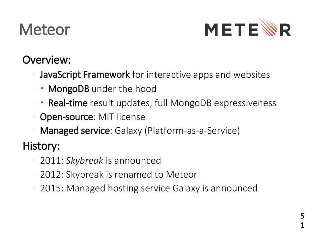Overview: JavaScript Framework ◦ for interactiv...