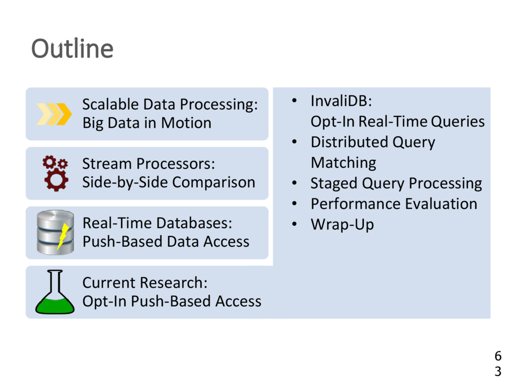 Outline • InvaliDB: Opt-In Real-Time Queries • ...