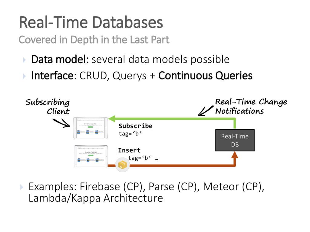  Data model: several data models possible  In...