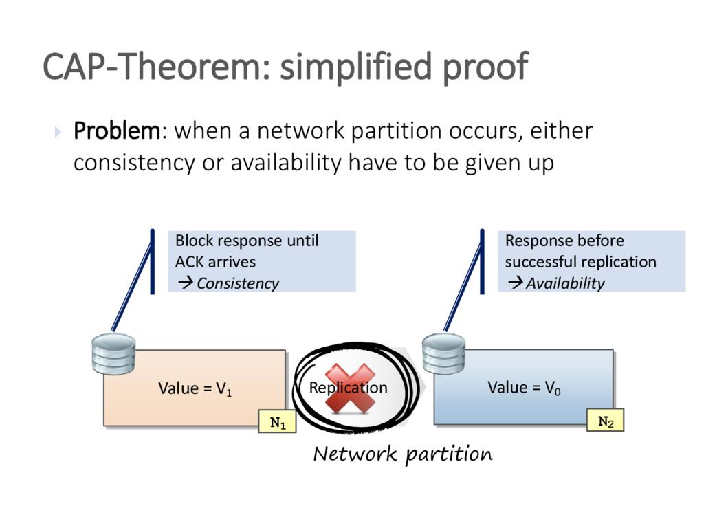  Problem: when a network partition occurs, eit...