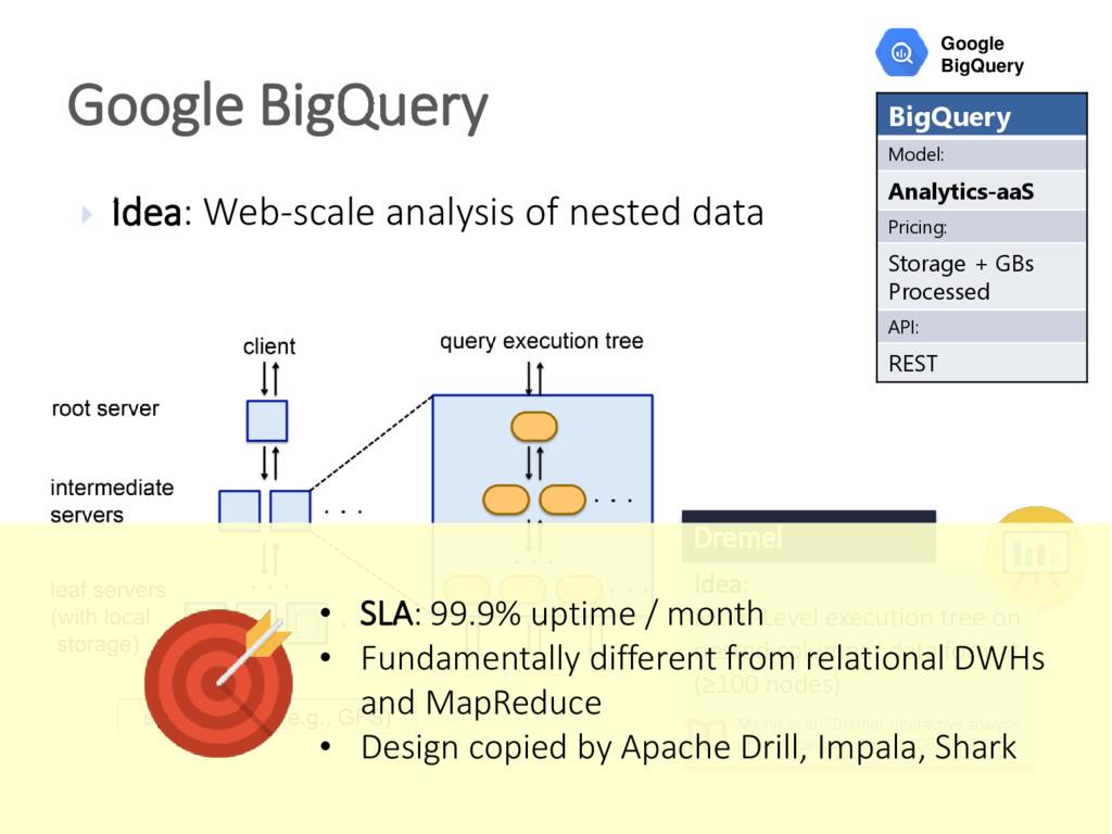 Idea: Web-scale analysis of nested data Googl...