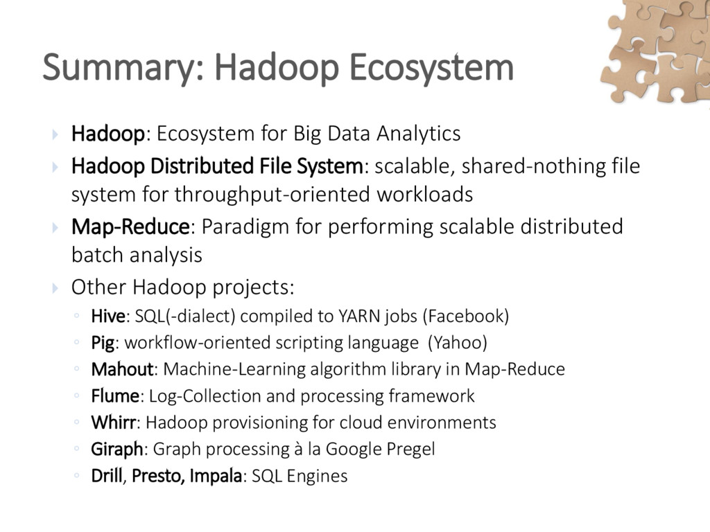  Hadoop: Ecosystem for Big Data Analytics  Ha...