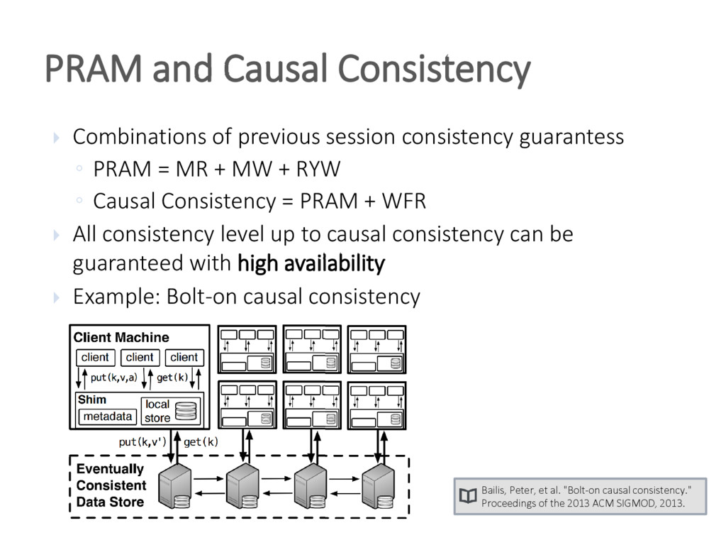 PRAM and Causal Consistency  Combinations of p...