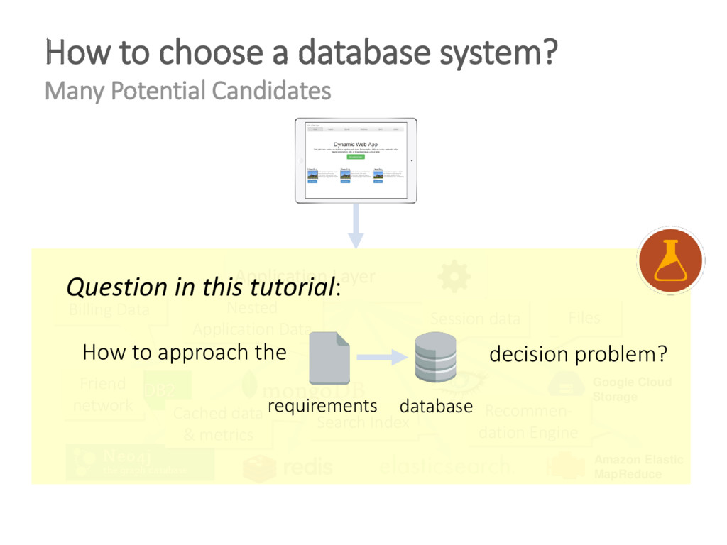 How to choose a database system? Many Potential...