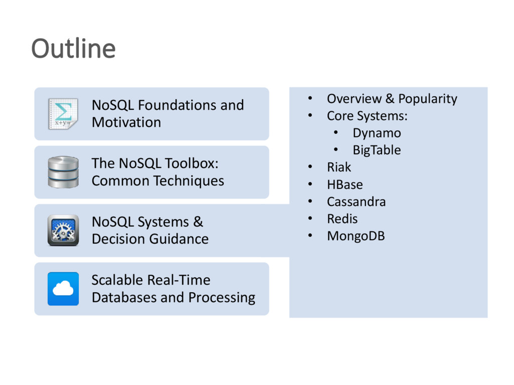 Outline • Overview & Popularity • Core Systems:...