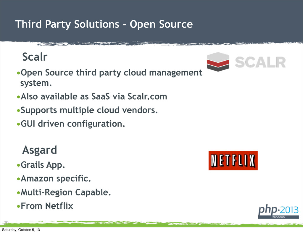 Third Party Solutions - Open Source •Open Sourc...
