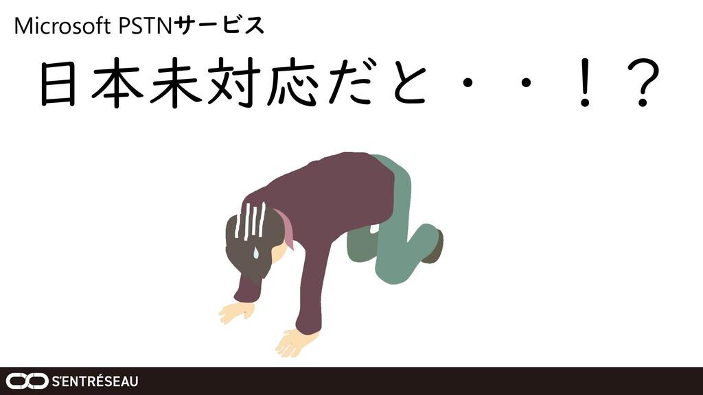Microsoft PSTNサービス 日本未対応だと・・!?