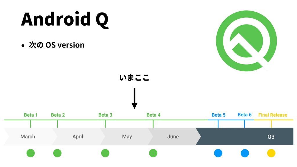 Android Q • 次の OS version いまここ