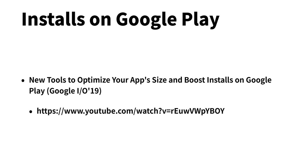 Installs on Google Play • New Tools to Optimize...