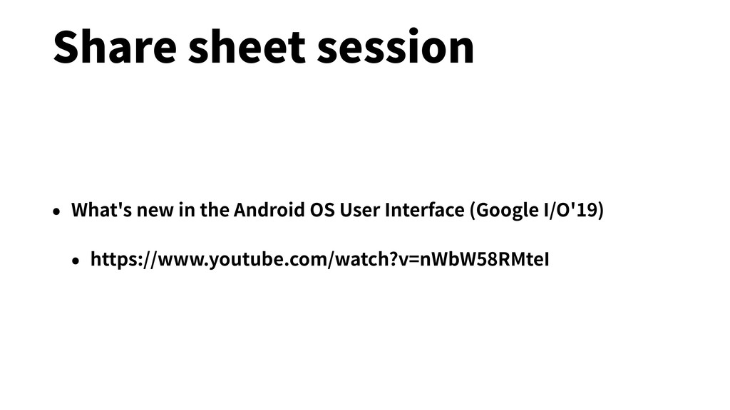 Share sheet session • What's new in the Android...