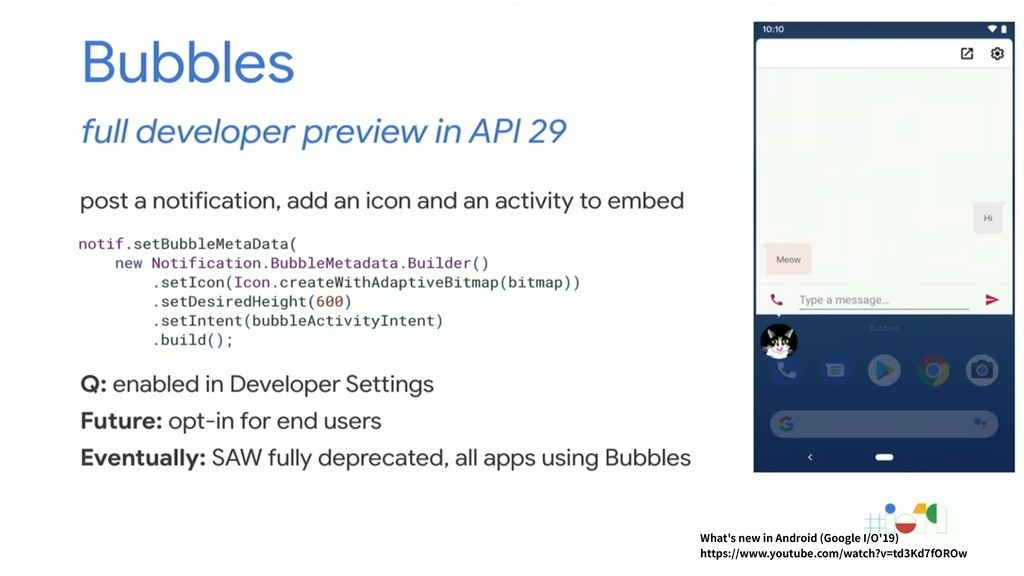 What's new in Android (Google I/O'19) https://w...