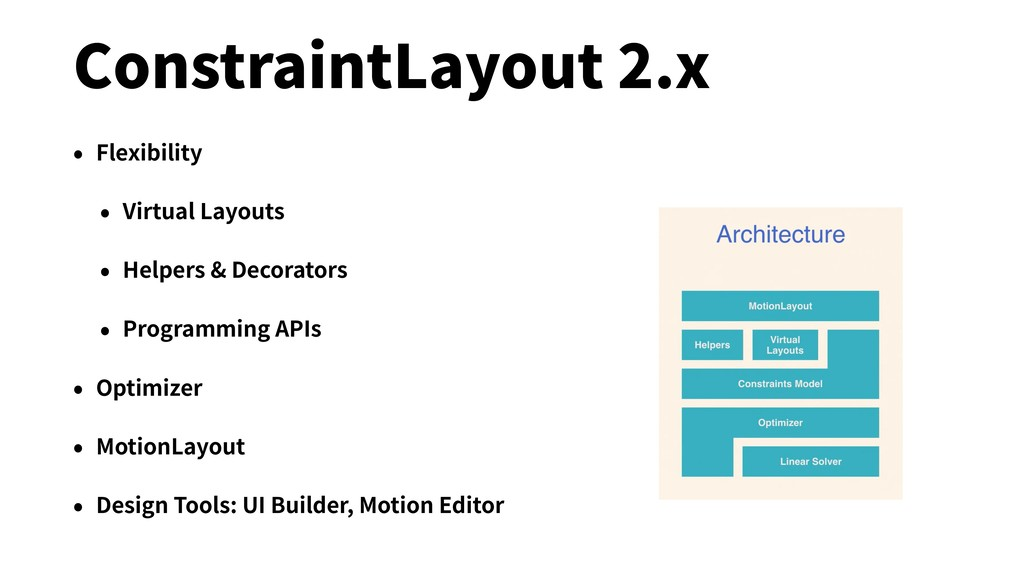 ConstraintLayout 2.x • Flexibility • Virtual La...