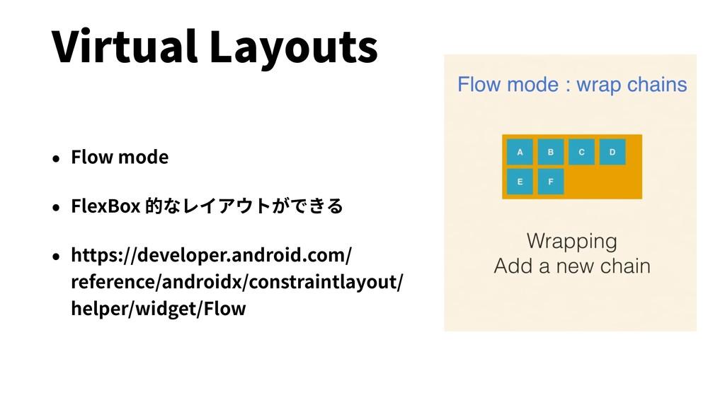 Virtual Layouts • Flow mode • FlexBox 的なレイアウトがで...