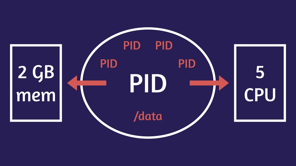 PID PID PID PID PID /data 2 GB mem 5 CPU