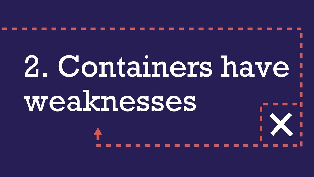 2. Containers have weaknesses