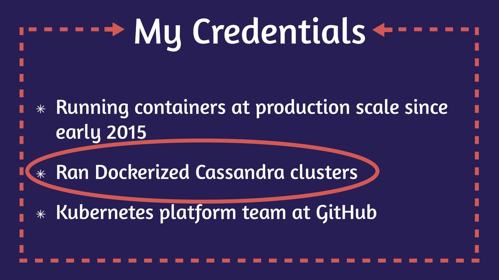 My Credentials Running containers at production...