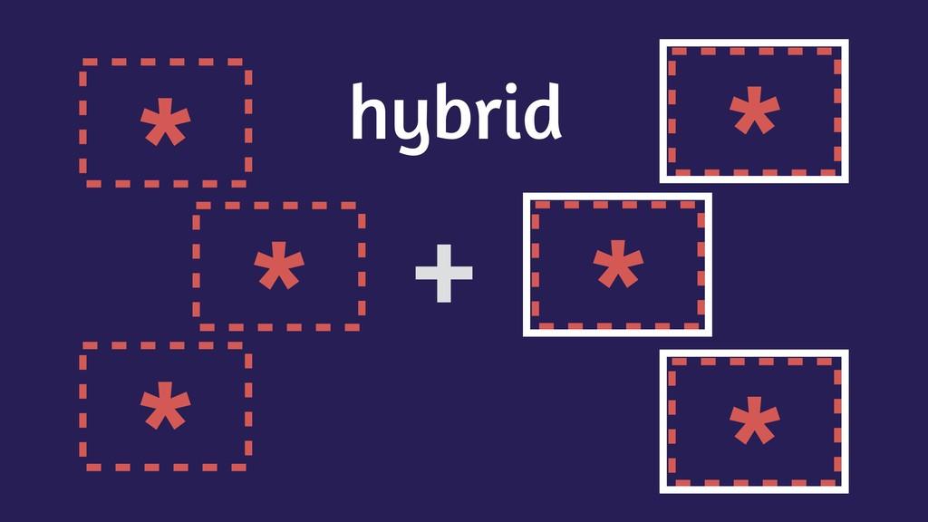 * * * * * * + hybrid