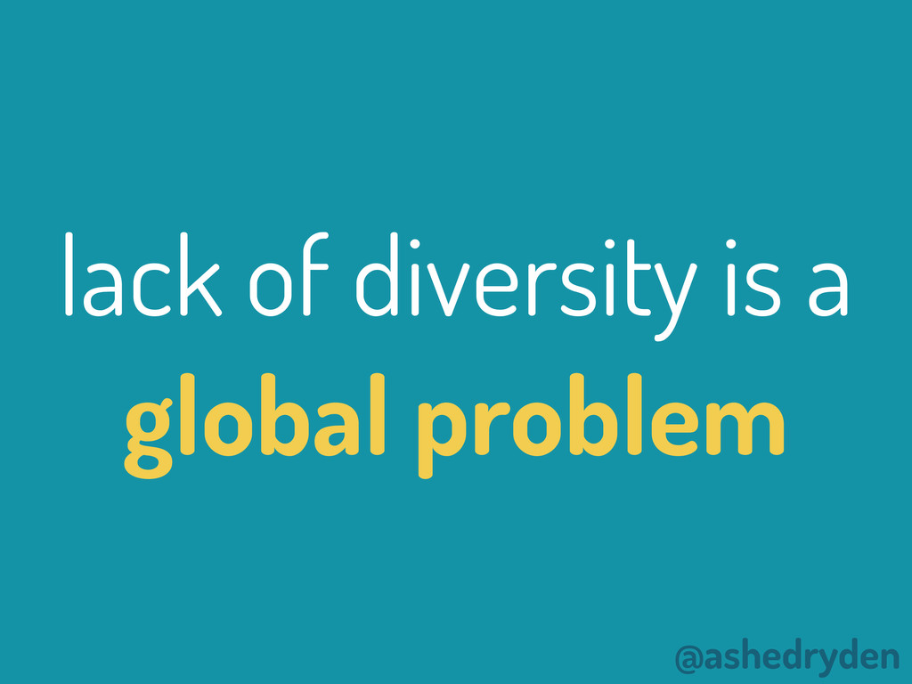 @ashedryden lack of diversity is a global probl...