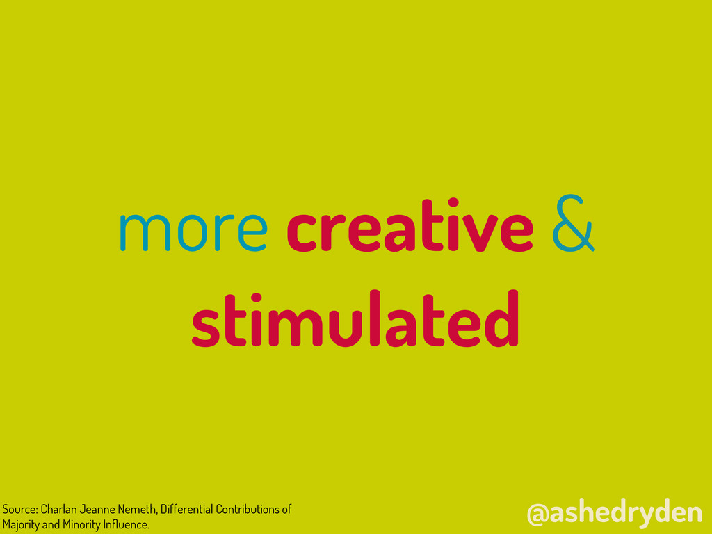 @ashedryden more creative & stimulated Source: ...