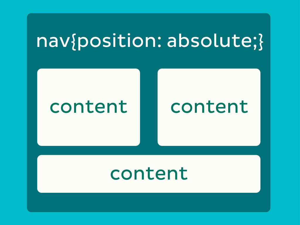 content content nav{position: absolute;} content