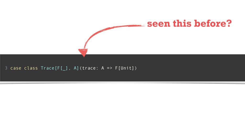3 case class Trace[F[_], A](trace: A => F[Unit]...
