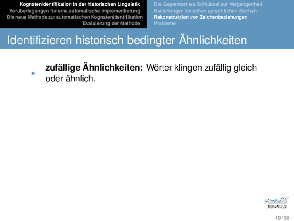 Kognatenidentifikation in der historischen Ling...