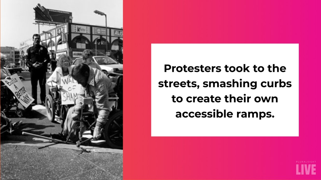 Protesters took to the streets, smashing curbs ...