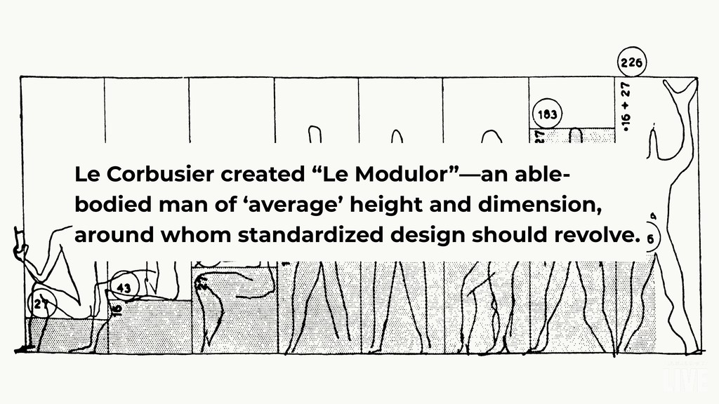 "Le Corbusier created ""Le Modulor""—an able- bodi..."