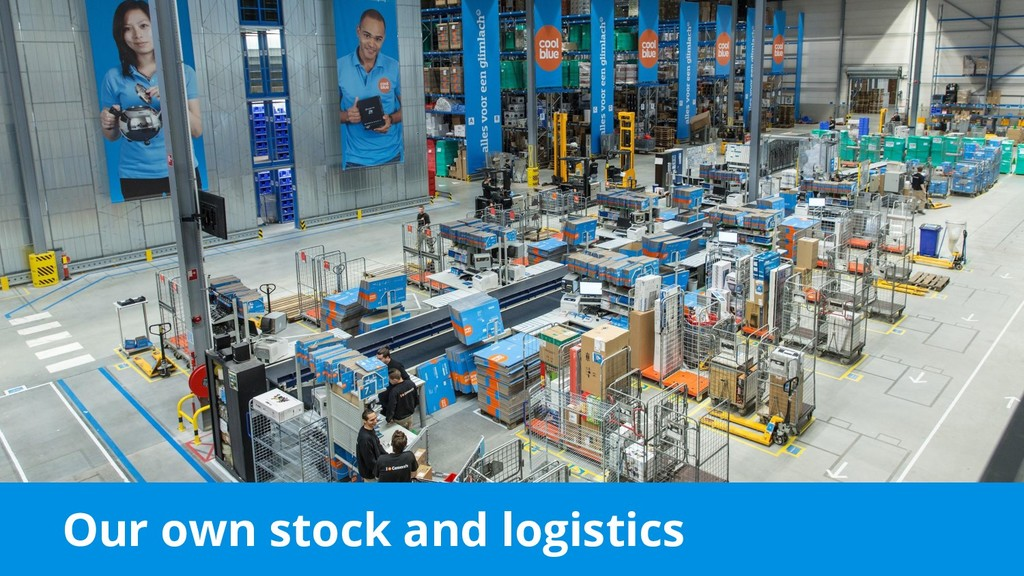 Our own stock and logistics