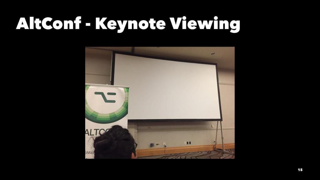 AltConf - Keynote Viewing 15