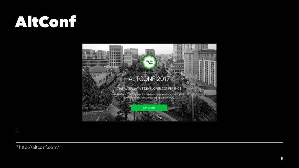 AltConf 3 3 http://altconf.com/ 5