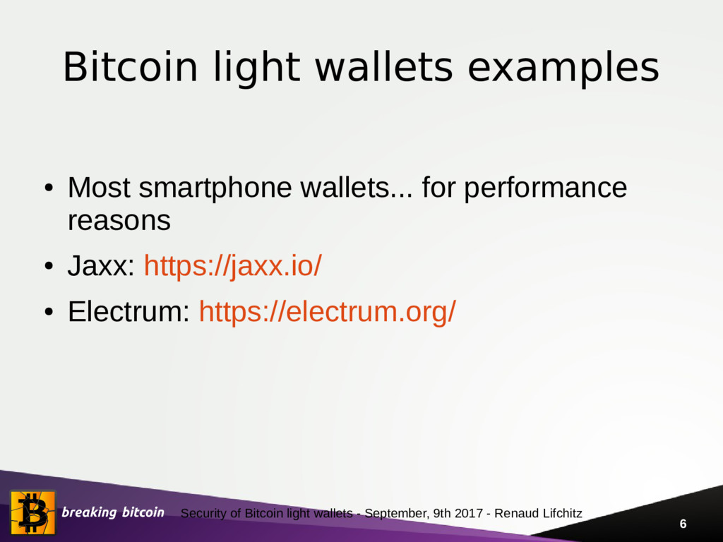 Security of Bitcoin light wallets - September, ...