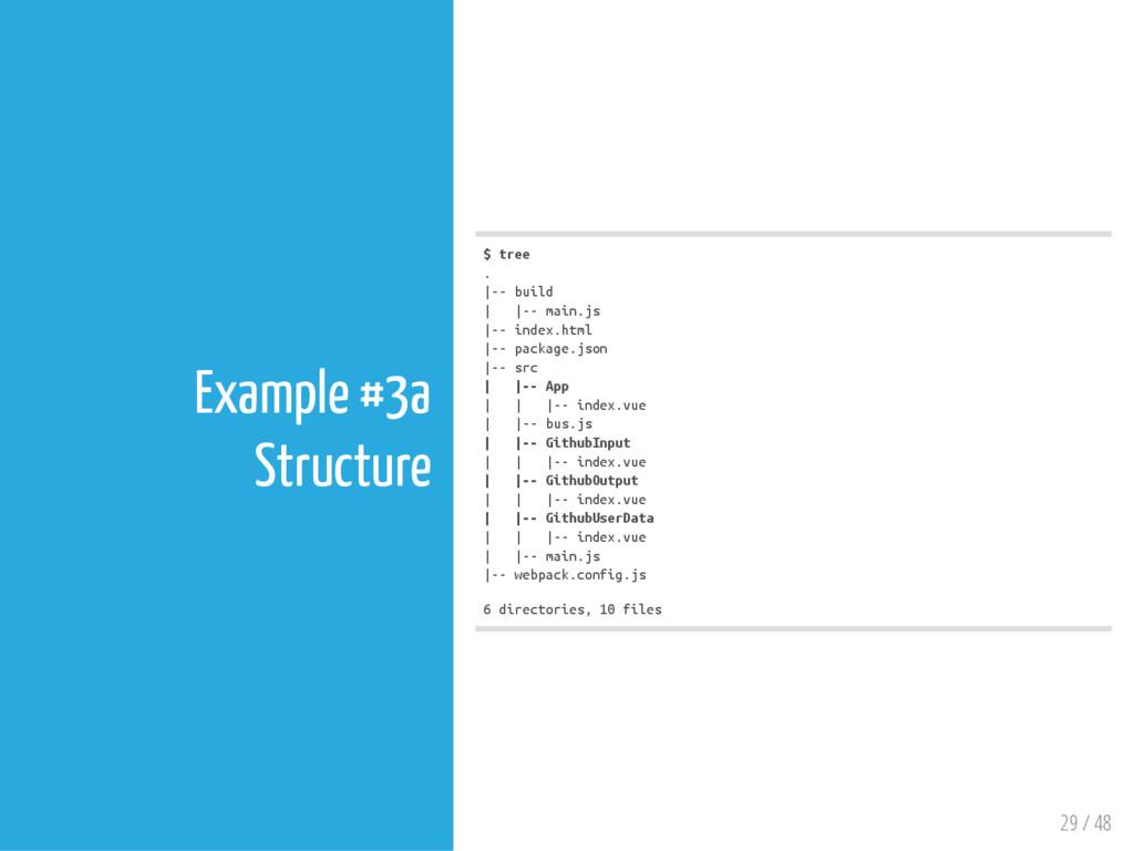 29 / 48 Example #3a Structure $ t r e e . | - -...
