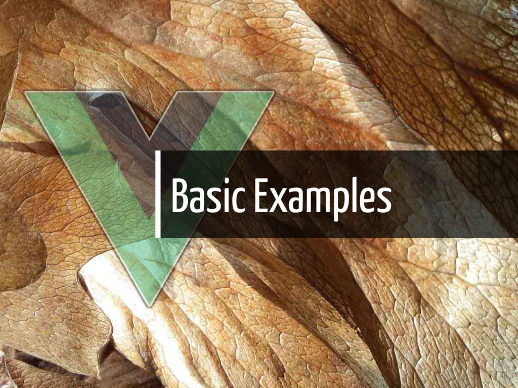Basic Examples 7 / 48