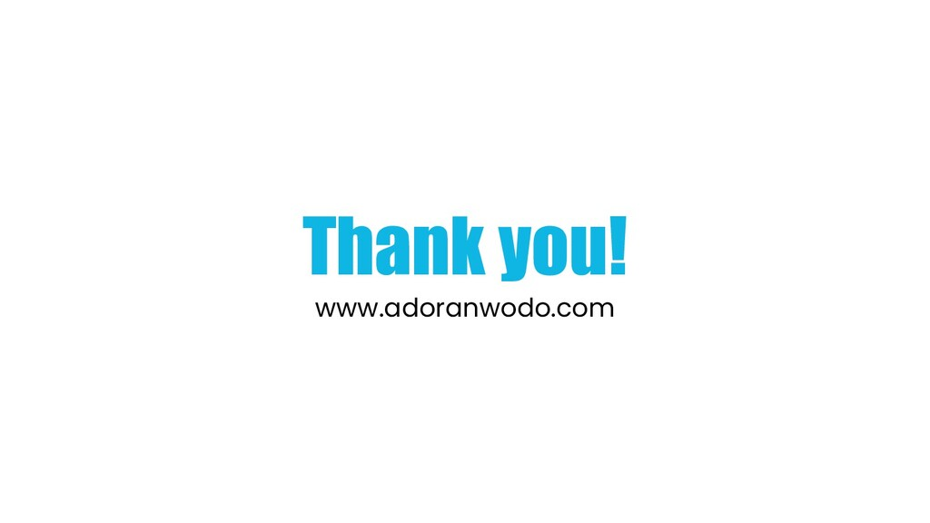 Thank you! www.adoranwodo.com
