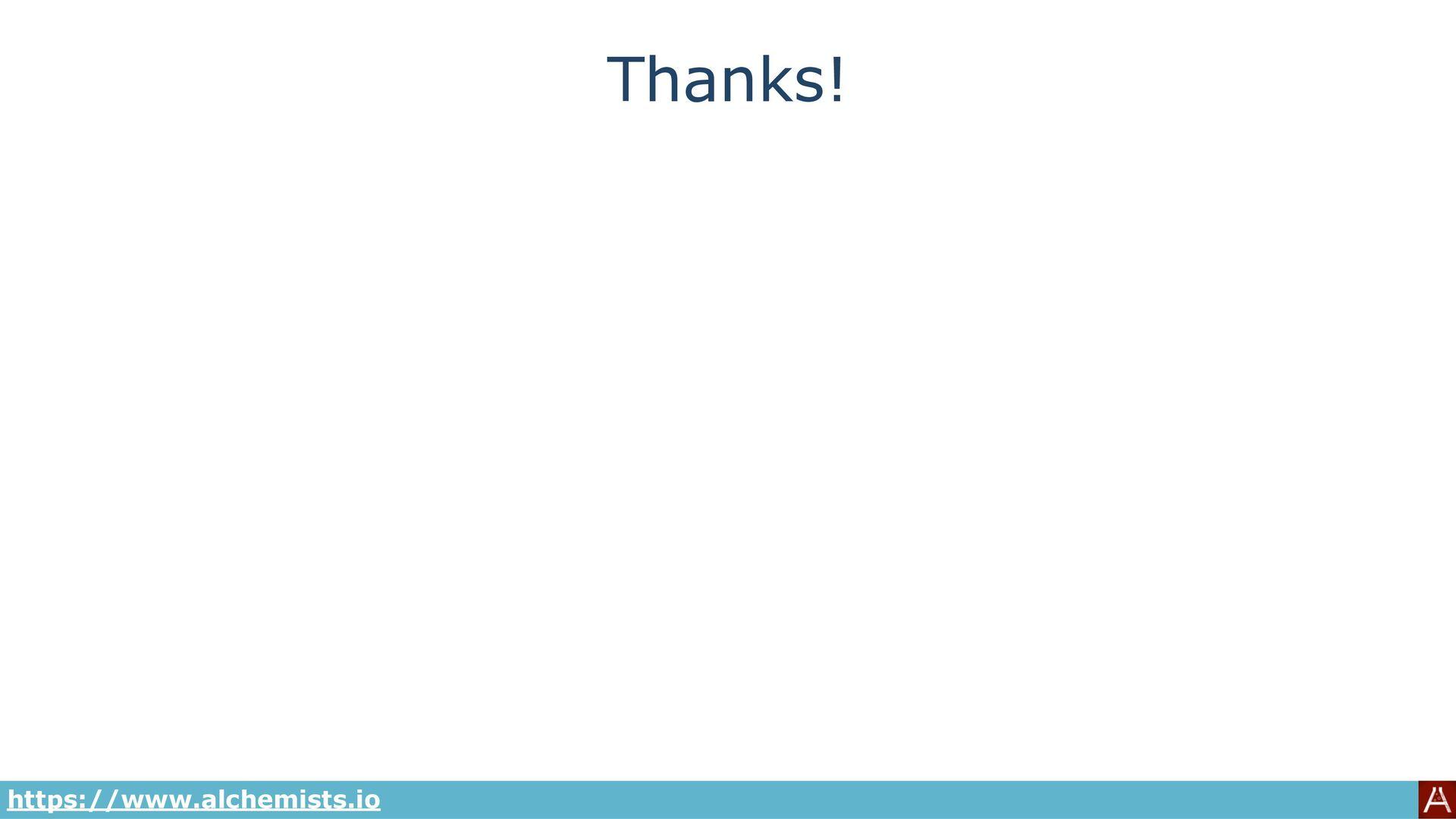 Thanks! @bkuhlmann https://www.alchemists.io Se...