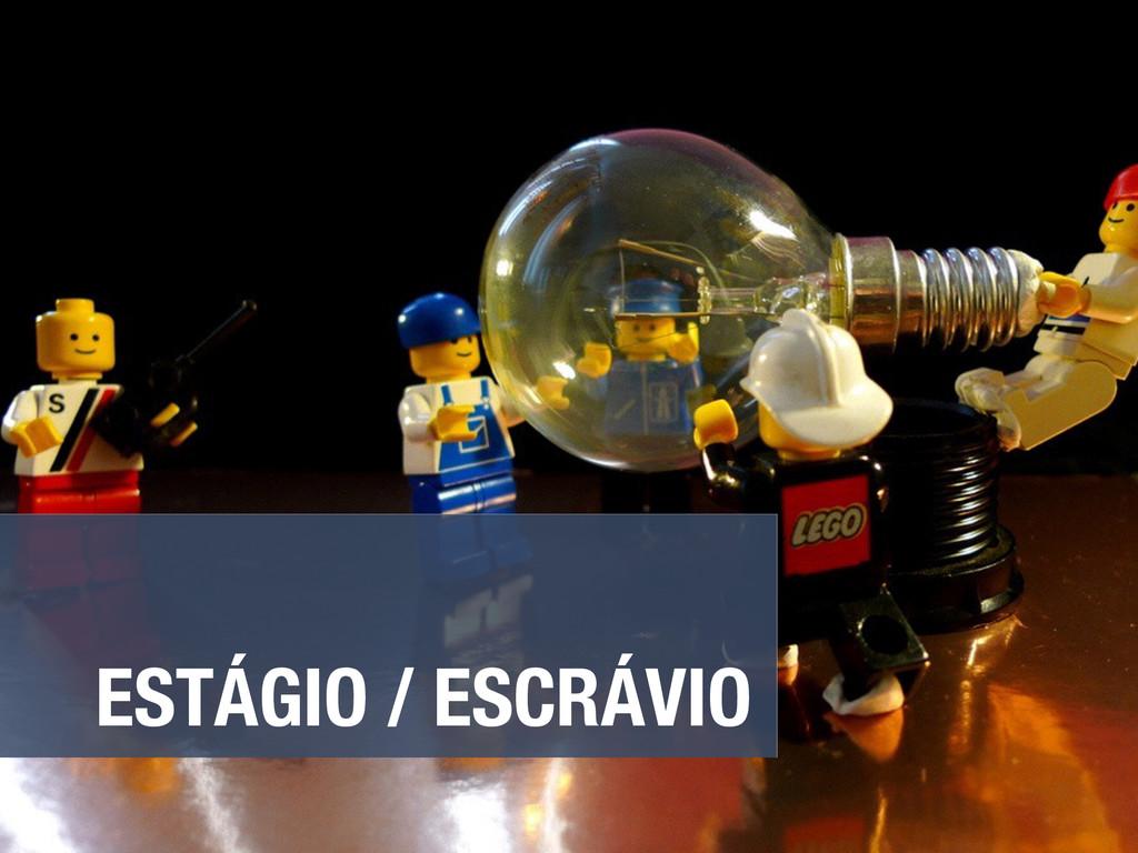ESTÁGIO / ESCRÁVIO